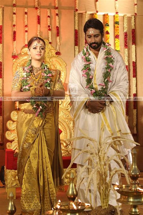 film actress wedding album actress bhavana wedding photos kerala wedding style