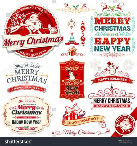 gift vector label elements webbyarts vector set vintage labels badges stock vector