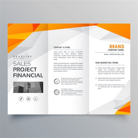 Abstract Orange Trifold Brochure Design Business Template Vector Free Download Business Catalogue Design Templates