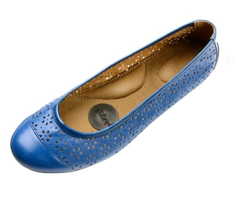 grounding shoes womens blue leather ballet flats earthing shoes by pluggz