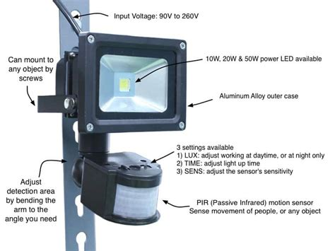 how does a motion sensor light switch work motion sensor led security flood light oznium