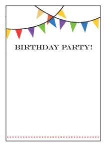birthday invitation templates free best template collection