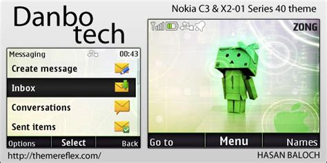 nokia c3 technology themes danbo tech theme for nokia c3 x2 01 themereflex