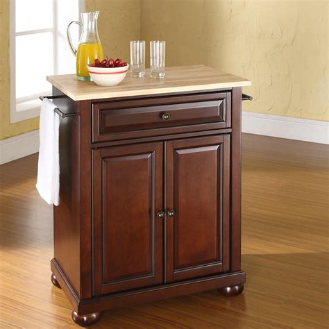 alexandria kitchen island alexandria wood top portable kitchen island
