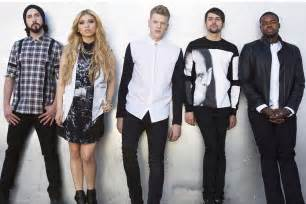 The members of pentatonix spoke to us backstage at the staple center
