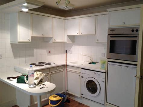 kitchen washer small kitchen incl elec hob sink washing machine re do