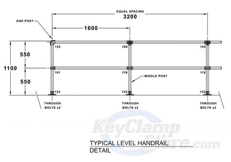 Key Clamp Handrails Key Clamp 42hcalc 42mm Key Clamp Handrail Safety Barrier Kit