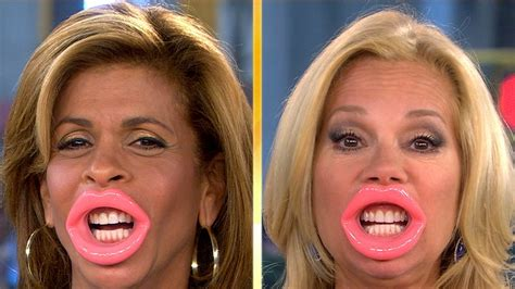 kathie lee gifford exercise video klg and hoda try japanese face slimmer lock lips today