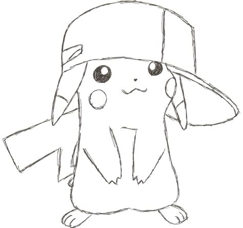 cute hat coloring pages i love pikachu drawings pinterest drawings