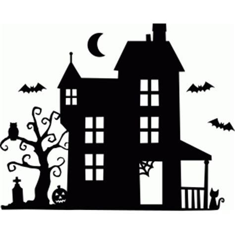 haunted house quilting motifs silhouette stencil