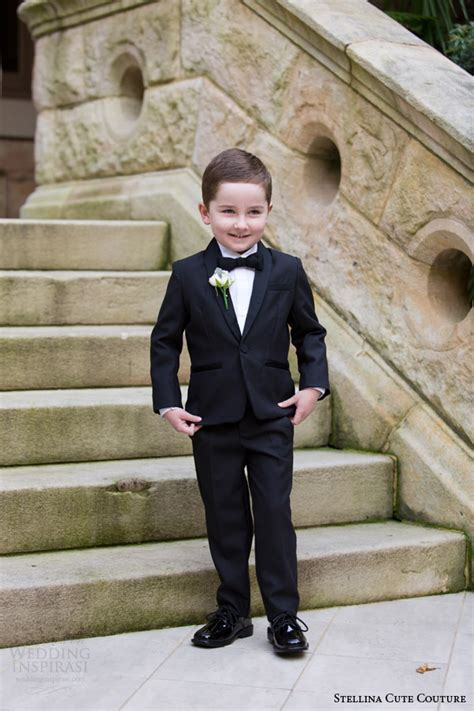white tuxedo suit for a 1 year old stellina cute couture 2015 2016 collection wedding inspirasi
