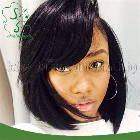 pretty hair bobs for black people cute bob lace front wigs with bangs for black women