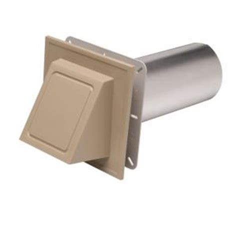 cellwood 6 3 4 in x 6 3 4 in khaki hooded dryer vent