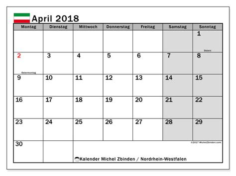 kalender april 2018 nordrhein westfalen
