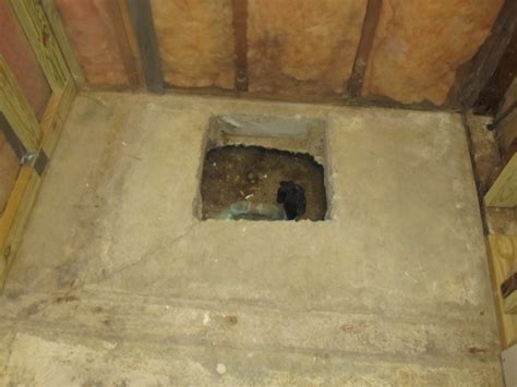 Hole In Slab Around Shower Drain  Fill It??   Plumbing