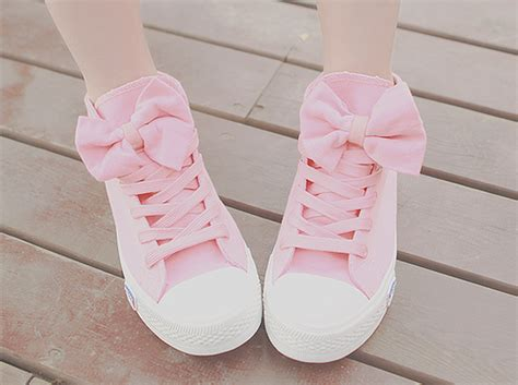 Light Pink Nikes Pretty Cute Shoes Kawaii Pink Bow Sneakers Pastel Pink