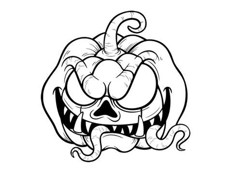 imagenes de calaveras y calabazas terrifying pumpkin coloring page coloringcrew com