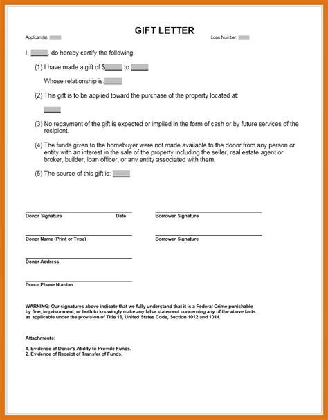 Gift Letter Of Equity gift letter mortgage letter format business