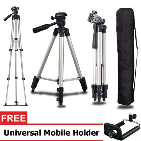 Tripod Rs 3110a 1 Meter ringstar portable tripod stand 4 section aluminium legs with brace rs 3110a silver ezyhero