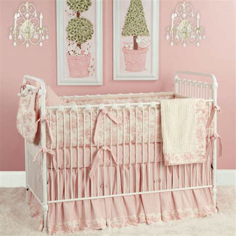 Pink Toile Crib Bedding Taylors Toile Baby Bedding In Pink And Nursery Necessities In Interior Design Guide All Baby