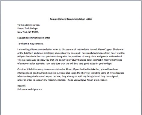 Letter Of Recommendation For College Nursing Student Recommendation Letter For Thevictorianparlor Co
