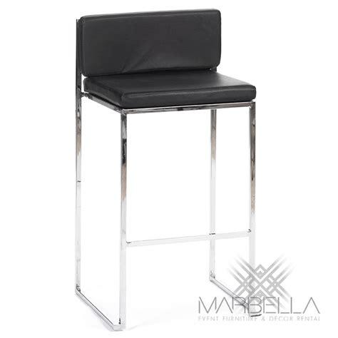 bar stool cushions black bar stool silver black marbella event furniture decor