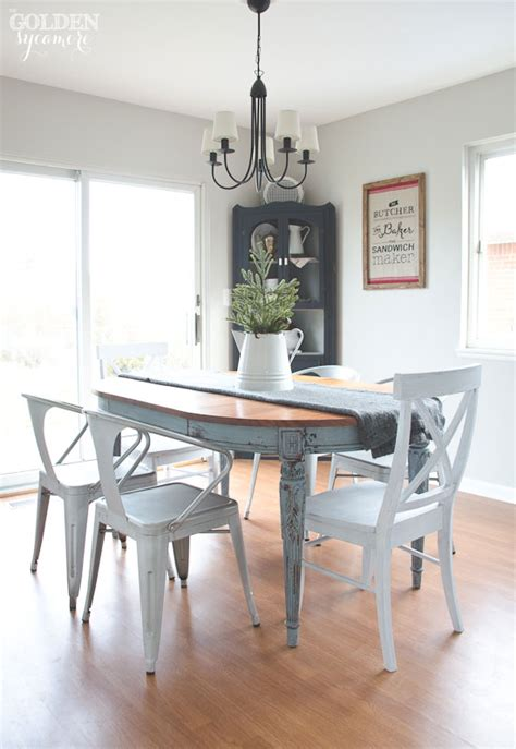 How To Paint Dining Table Painted Dining Table Finally The Golden Sycamore