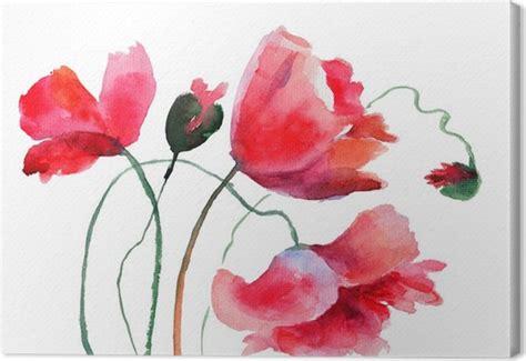 quadri fiori stilizzati quadro su tela fiori stilizzati poppy pixers 174 viviamo