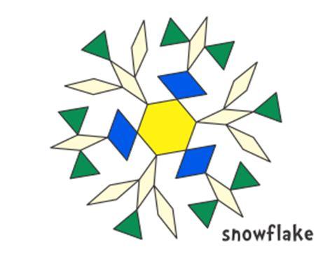 snowflake pattern block templates free printable pattern block worksheets pattern block