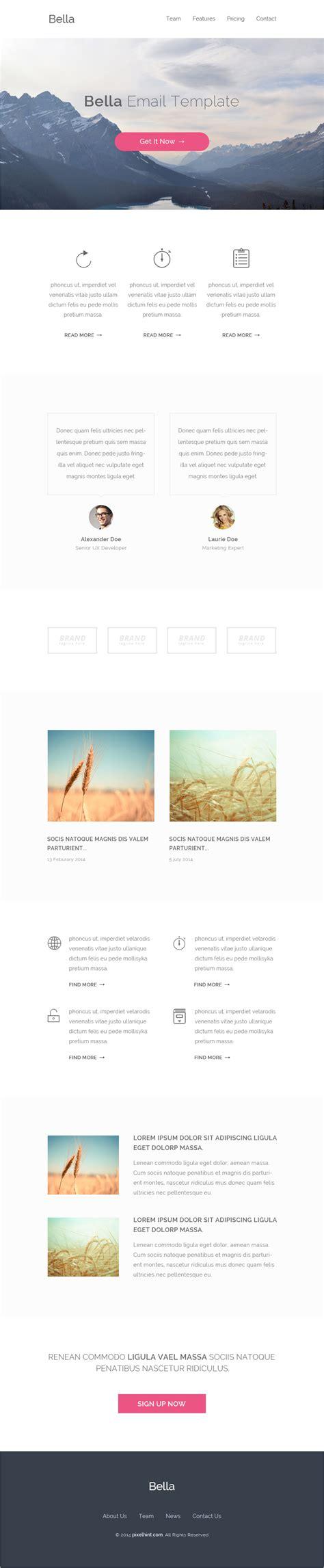 download html email template gratis bella majalah desain