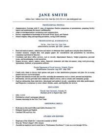 resume profile exles berathen