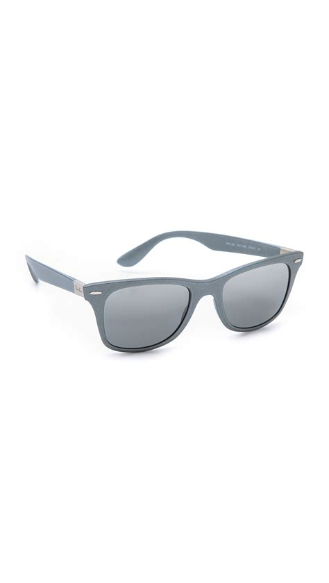 Kypers Caipirinha Clear Grey Silver Mirror lyst ban light matte wayfarer sunglasses in metallic