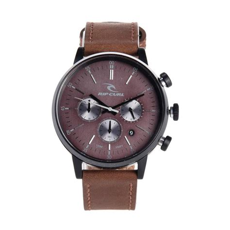 Jam Tangan Pria Ripcurl Chorono On jual rip curl chrono midnight leather jam tangan