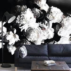 Floral Wall Mural bouquet of peonies dark floral mural floral wallpaper