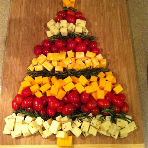 christmas tree cheese tray recipes pinterest cheese