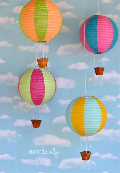 Make Paper Balloon - paper lantern air balloons make lovely