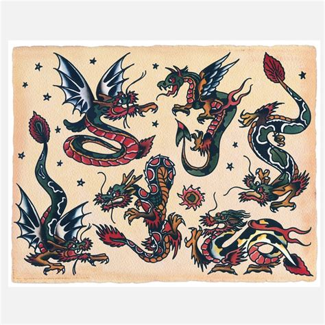 traditional dragon tattoo 1000 ideas about sailor jerry tattoos on