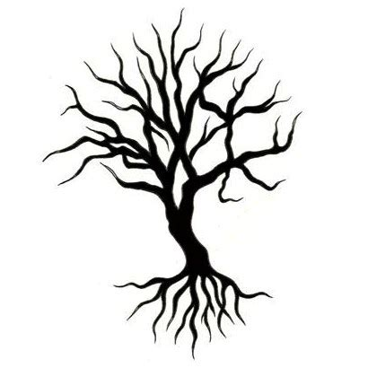 black and white tree tattoos cliparts co