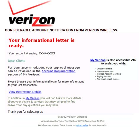 Confirmation Letter From Verizon Confirmation Of Receipt Of Resume