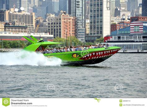nyc tours by boat nyc the beast tour boat editorial stock image image of