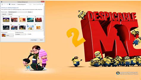 theme line despicable me 2 despicable me 2 windows 7 theme download