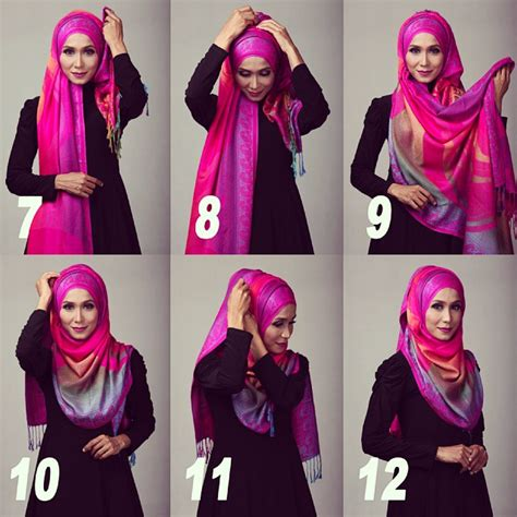 tutorial hijab in style hijab tutorial for proper chest coverage hijabiworld