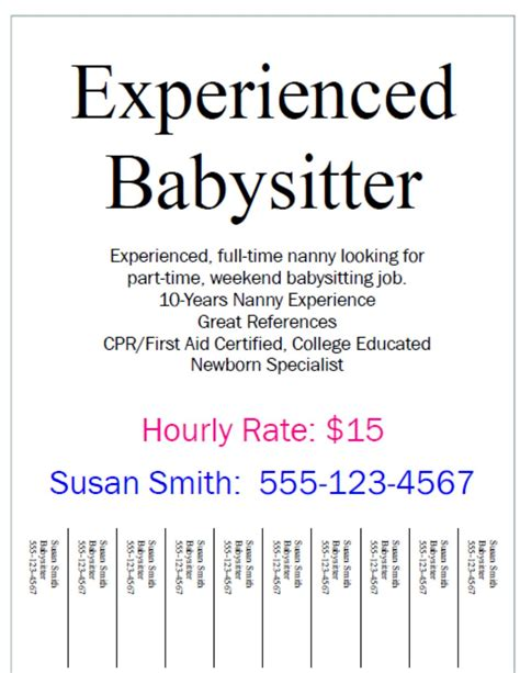 Nanny Resume Sample Templates by How To Be The Best Nanny Finding A Part Time Babysitting