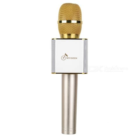 Mic Karaoke Ktv Q9 Bluetooth Wireless Microphone q9 wireless bluetooth mobile phone karaoke microphone gold free shipping dealextreme