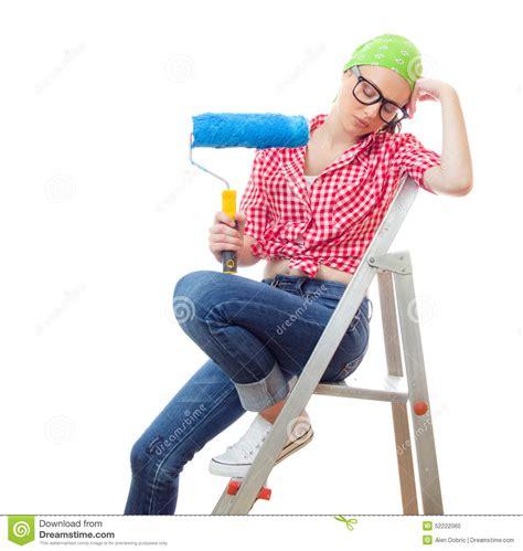 house painter painting www pixshark com images house painter woman stock photo image 52222060