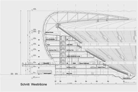 architectual plans allianz arena architectural drawings plans designs