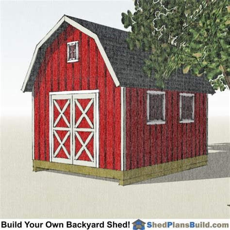 12x16 gambrel storage shed plans 12x16 gambrel shed plans small barn shed