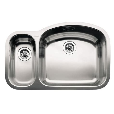 1 1 2 Bowl Kitchen Sink Blanco Wave Undermount Stainless Steel 32 In 1 1 2 Bowl Kitchen Sink 440243