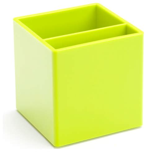 Pen Cup Lime Green Modern Desk Accessories Lime Green Desk Accessories