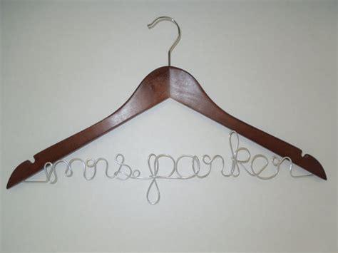 diy wooden bridal hanger gift